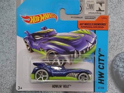 Hot Wheels 2014 # 067//250 Howlin Heat Oscuro Azul Hw City Lote L