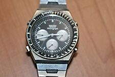 SEIKO 7A28-7039 Quartz Chronograph Pre-Owned Synchrotimer Wrist Watch Stainless