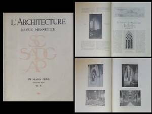 L-039-ARCHITECTURE-1936-EGLISE-MAISONS-ALFORT-DOM-BELLOT-INGRAND-AZEMA-MONTPELLIER