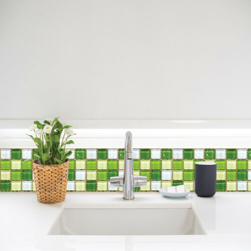 Kitchen Tile Stickers Bathroom Mosaic Sticker Self-adhesive Wall Decor 18 PCS