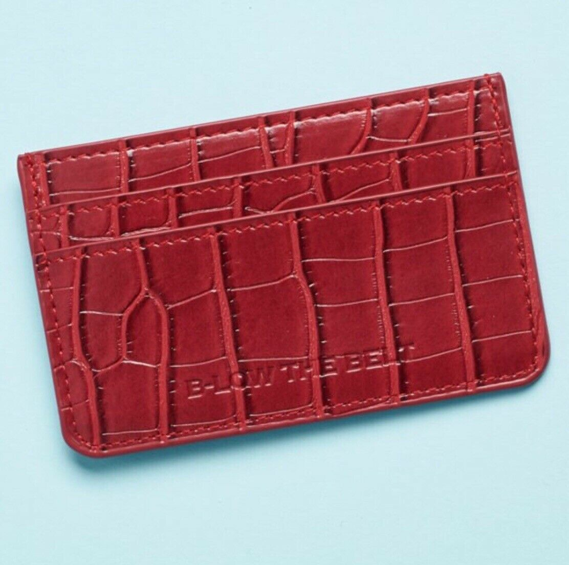 B-low The Belt Card Holder. Faux Croc Card And ID Holder In Red RRP