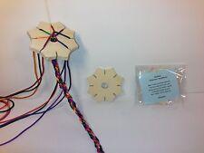 5 x Knüpfstern  zum knüpfen von Schnüren wie Knüpfblume in Kita Qualität