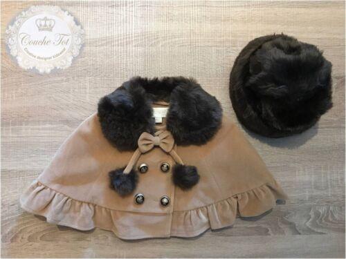 Designer COUCHE TOT Ragazze mantello e cappello set