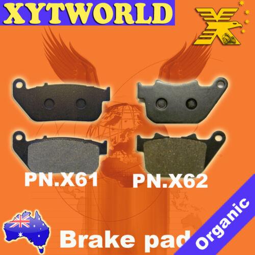 FRONT+REAR Brake Pads for HARLEY DAVIDSON XL 1200 C Sportster 2004-08 2009 2010