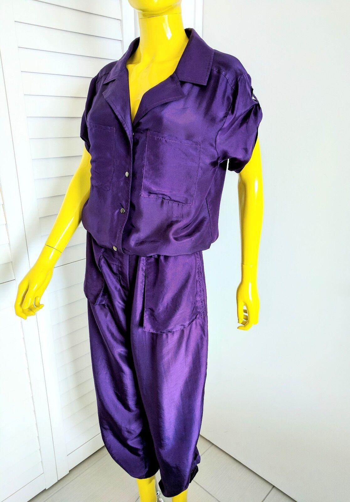 DEBORAH SWEENEY 100% Silk Romper Jumpsuit Size 6 Original Retail  614.00