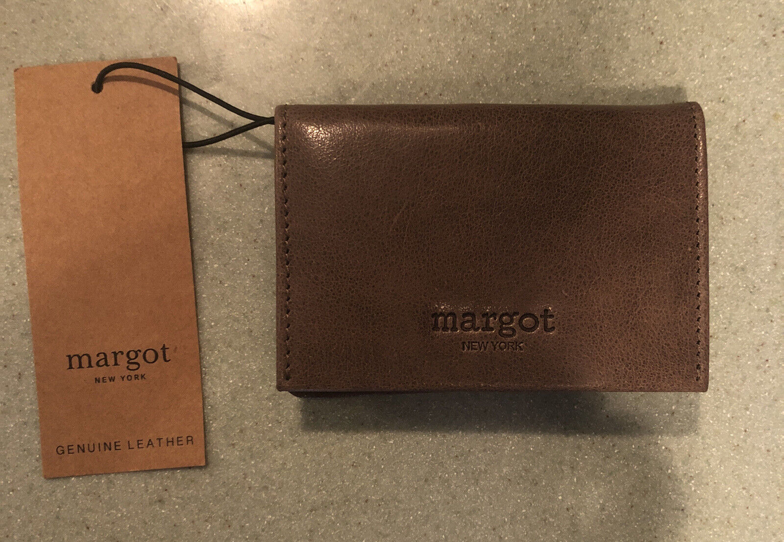 Margot New York Leather Cassius Card Case Wallet.. New 🌼 Brown