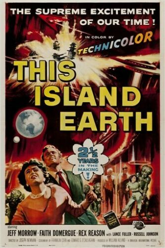 THE ISLAND EARTH 1955 vintage science fiction movie poster JEFF MARROW 24X36