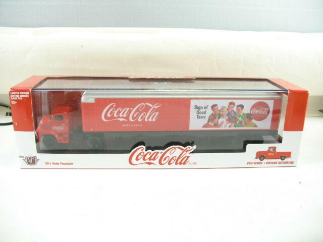 M2 Coca Cola hauler with 1956 Ford F-100  inside scale 1:64