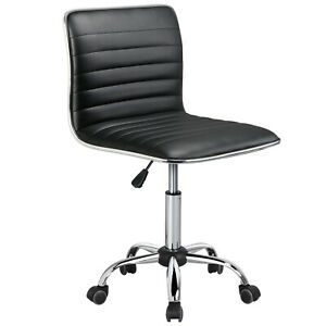 Low-Back-Designer-Armless-Desk-Chair-Ribbed-Swivel-Task-Chair-with-Wheels-Black