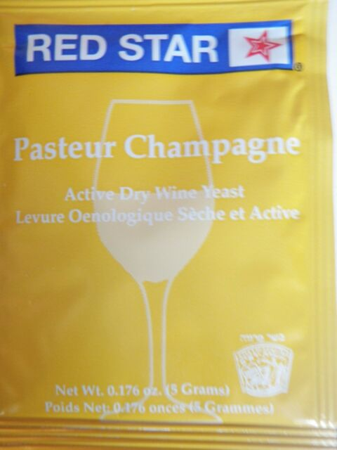 6 packs - Red Star Pasteur Champagne - 5g pack - Home Brew Wine Making