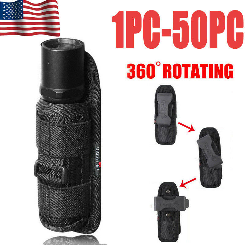 Tactical Nylon Holster Holder Belt  Case Bag LED Flashlight Pouch Torch Light R0  sale online discount