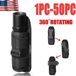 Tactical-Nylon-Holster-Holder-Belt-Case-Bag-LED-Flashlight-Pouch-Torch-Lamp-USA