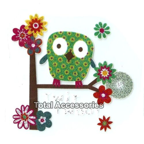 Twit Twoo! NEW Iron On T-Shirt Glitter Heat Transfer Owl