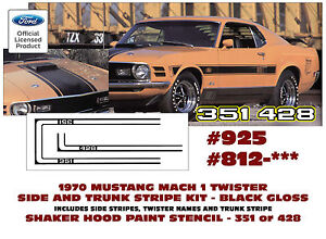 925 Amp 812 St 1970 Mustang Mach 1 Twister Special