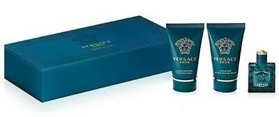 Versace Eros 3-Piece MINI Travel Gift Set: EDT + Shower Gel + After Shave