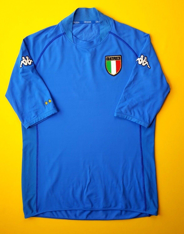 Italia Italia Fútbol Jersey Camisa De De De Fútbol Kappa Casa 2002 2004 ig93 6e4064