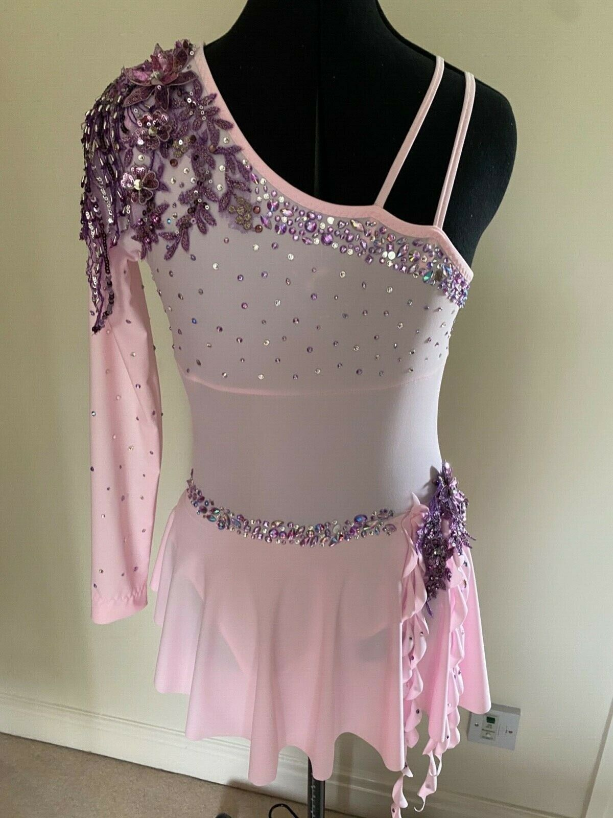 Pink lyrical dance costume pink and purple 13 to 15 years / small ladies