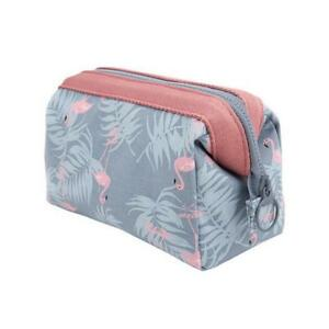 d907068967 Image is loading Cosmetic-Bag-Women-Flamingo-Pouch-Travel-Makeup-Storage-