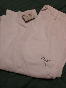 874dd701678f NWT sz 0 Puma Golf Capris Solid Tech Womens Dry Cell Tech White Size ...