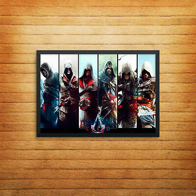 Assassins Creed Timeline Poster Print Wall Art Gaming Console A4