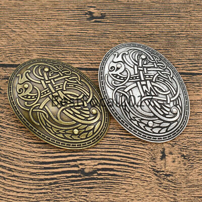 Vintage Norse Nordic Viking Amulet Brooch Pin Shirt Clothes Lapel Men Jewelry IT