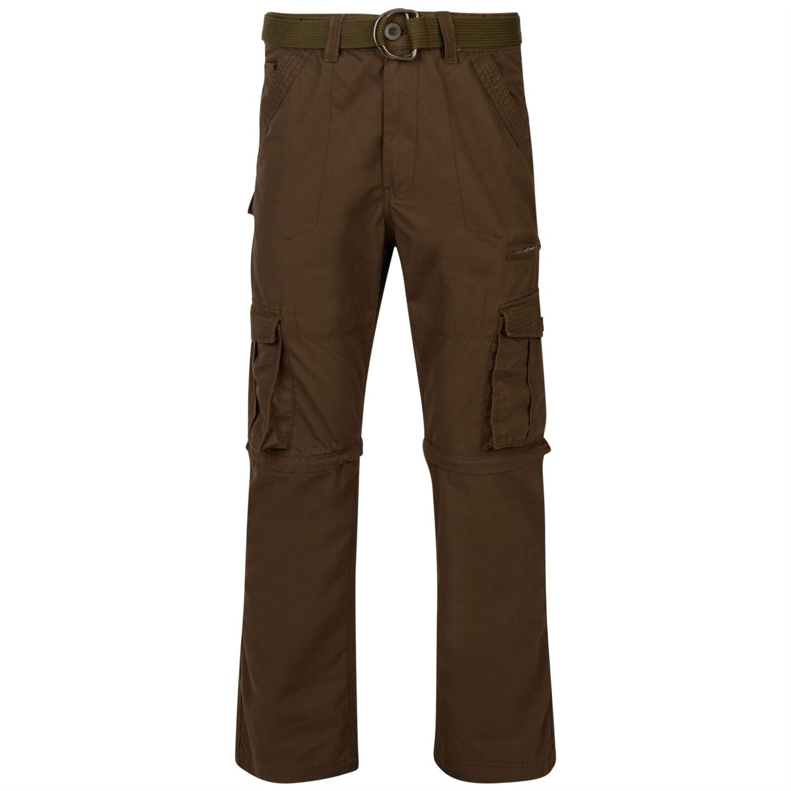 Kam Zip-Off Cargo Combat Trousers Brown 42 44 46 48 50 52 54 56 58 60 62 64
