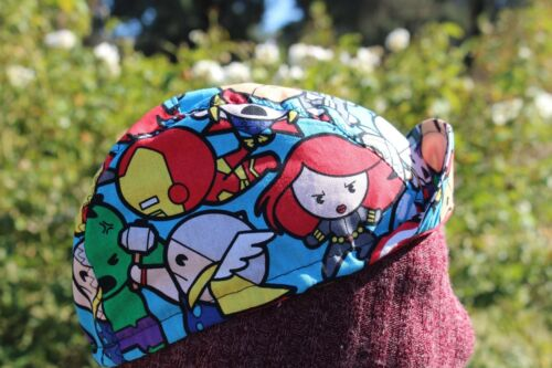 CYCLING CAP MARVEL COMIC  100/% COTTON  ONE SIZE HANDMADE