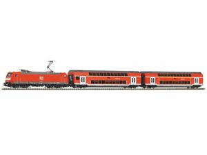 Piko-59023-Set-Smart-Control-Regionalzug-DB-Lok-Wagen-Gleise-neu-OVP