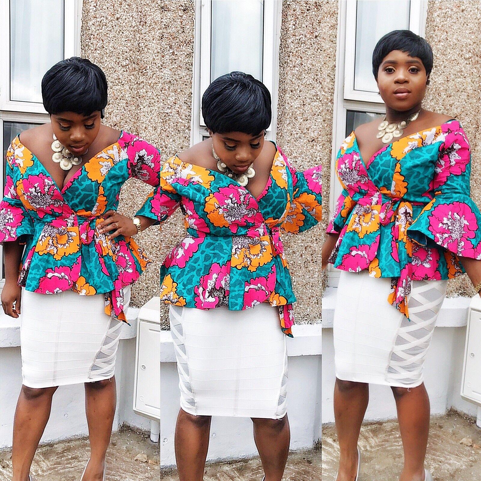 ladies bespoke ankara blouse/ top