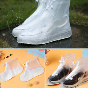 4 Color Waterproof Rain Shoes Cover Reusable Boots Flat Overshoes Slip Resistant