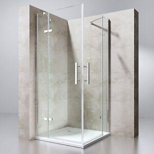 Extrem Duschkabine Dusche Eckeinstieg mit NANO Pendeltür Duschabtrennung XH87