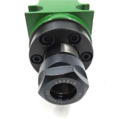 ER20 Boring Milling Power Head Spindle Head Unit 5000~6000rpm 60mm 5pcs Bearings