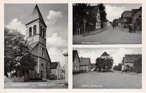 Oetigheim/Baden Kirche Schule Kronenstraße Rathaus ngl 157.540