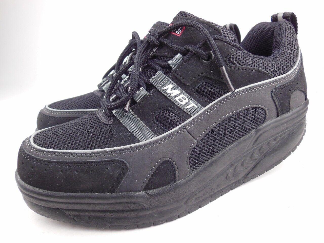 MBT Sport 03 03 03  noir  Leather Mesh Lace Up Walking Toning Sneakers c429e8