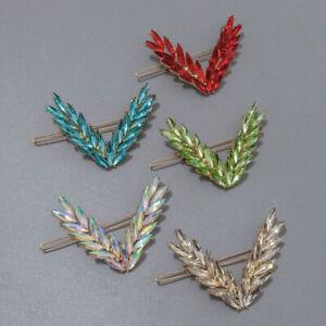 Fashion Women Leaf Crystal Hair Clip Hairpin Barrette Bobby Pin Hair Accessories