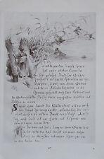 Eine Seite der Chronik Aquarell J. F. ENGEL Originaldruck aus 1918 print