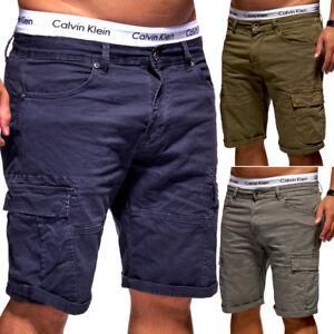Das Bild wird geladen BEHYPE-Herren-Shorts-Jeans-Bermuda-Kurze-Cargo-Hose- 558f646780
