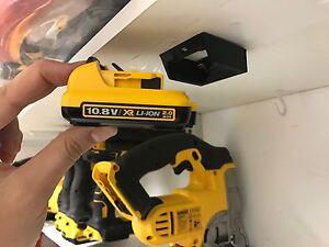 5x-STEALTH-BATTERY-MOUNTS-for-DeWalt-12v-XR-MAX-holder-rack-slot-case-van-case