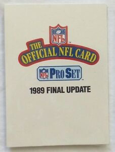 1989-PRO-SET-NFL-Football-Final-Update-Set-541-561-New-in-Sealed-Pack