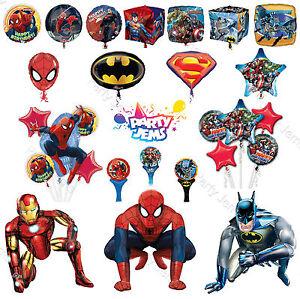 Marvel-DC-Superhero-Birthday-Party-Foil-Balloons-Orbz-Airwalker-Bouquet-Anagram