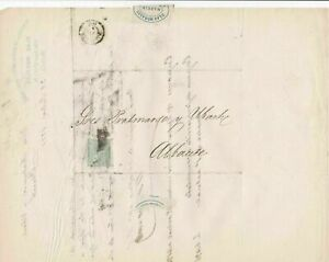 Spain 19th centuary stamps cover Ref 8304