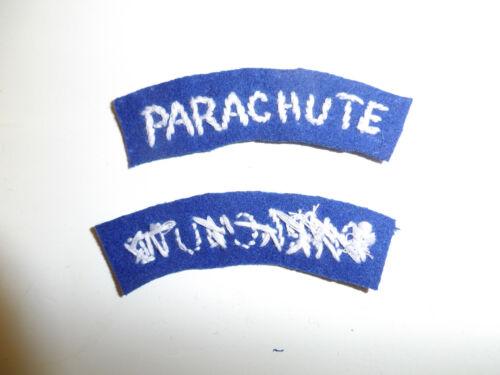 b3675 WW2 US Army 509th PIR Airborne Parachute Tab 5th Army Italy blue A6B18