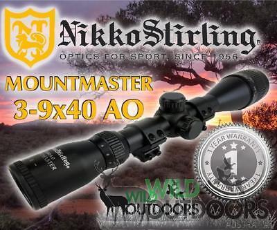Rimfire Rifle Scope 3-9x40mm AO MountMaster Nikko Stirling