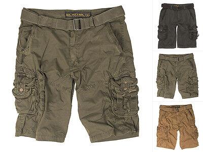 Mil-Tec Vintage Survival Shorts prewash schwarz