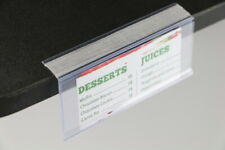 Adhesive Tape Price Tags Plastic Pvc Shelf Labels 50 Pieces Display Clear Holder