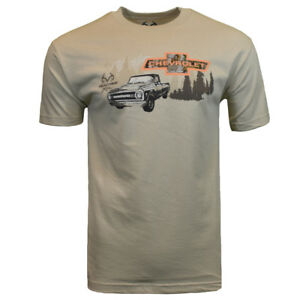 REALTREE-CHEVY-Mens-Tee-T-Shirt-M-To-XXL-Hunting-Deer-Camo-American-Muscle-Logo