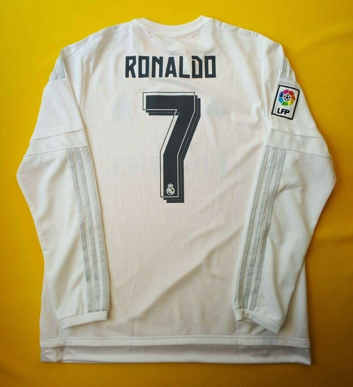 5+ 5 Ronaldo Real Madrid Jersey Camisa 2016 XL 2015 AK2495 De Fútbol Adidas ig93