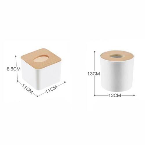 Home Kitchen Wooden Plastic Tissue Box Cover Solid Wood Napkin Holder OqRnV
