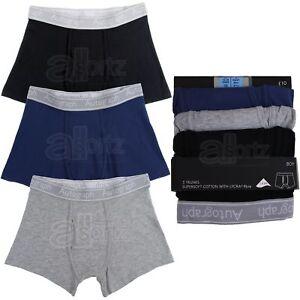 NUOVA Linea Uomo CONFEZIONE DA 3 cotone stretch Cool /& Fresh BAULI Flexifit Boxer M S