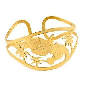Bracelet-ouvert-en-Acier-316-de-couleur-or-representant-la-Martinique